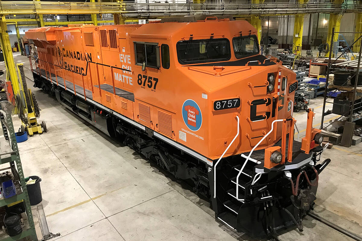 Canadian Pacific will launch its orange painted locomotive on Thursday, Sept. 30. (Photo submitted)